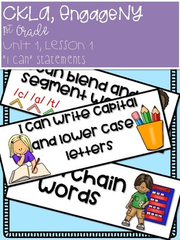 'I can' Statements, 1st Grade, CKLA, EngageNY