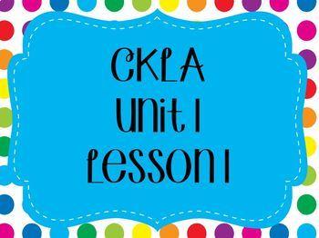 CKLA EngageNY Unit 1 Lesson 1 Flipchart