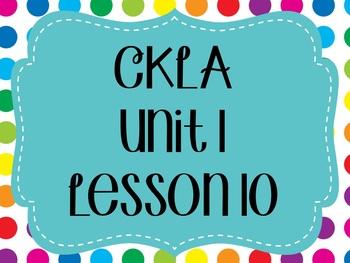 CKLA / EngageNY Unit 1 Lesson 10 flipchart