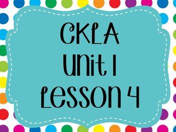 CKLA / EngageNY Unit 1 Lesson 4 flipchart