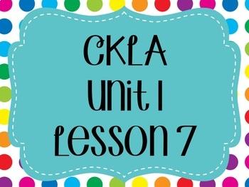 CKLA / EngageNY Unit 1 Lesson 7 flipchart