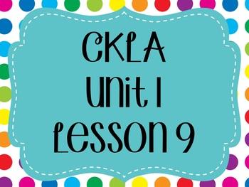 CKLA / EngageNY Unit 1 Lesson 9 flipchart