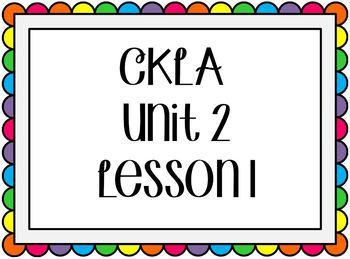 CKLA / EngageNY Unit 2 Lesson 1 Flipchart