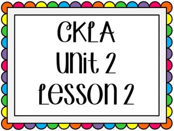 CKLA / EngageNY Unit 2 Lesson 2 Flipchart