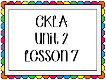 CKLA / EngageNY Unit 2 Lesson 7 Flipchart