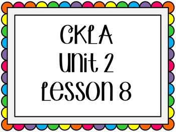 CKLA / EngageNY Unit 2 Lesson 8 Flipchart
