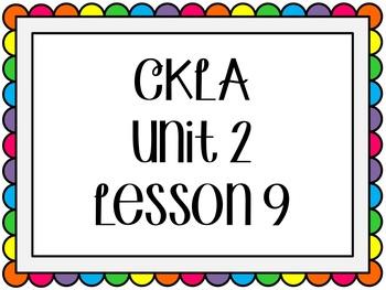 CKLA / EngageNY Unit 2 Lesson 9 Flipchart