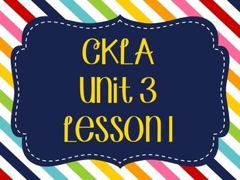 CKLA / EngageNY Unit 3 Lesson 1 Flipchart