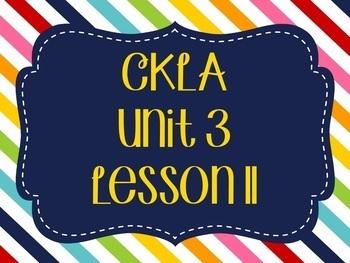 CKLA / EngageNY Unit 3 Lesson 11 Flipchart