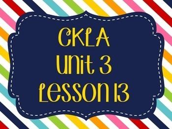 CKLA / EngageNY Unit 3 Lesson 13 Flipchart