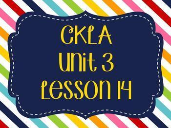 CKLA / EngageNY Unit 3 Lesson 14 Flipchart