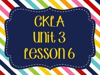 CKLA / EngageNY Unit 3 Lesson 6 Flipchart