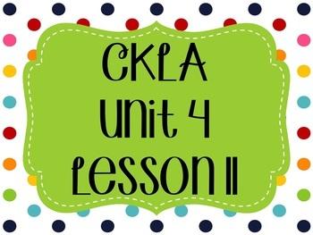 CKLA / EngageNY Unit 4 Lesson 11 Flipchart