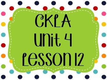 CKLA / EngageNY Unit 4 Lesson 12 Flipchart