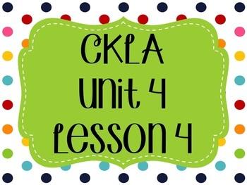 CKLA / EngageNY Unit 4 Lesson 4 Flipchart