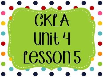 CKLA / EngageNY Unit 4 Lesson 5 Flipchart