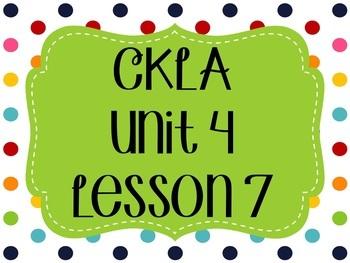 CKLA / EngageNY Unit 4 Lesson 7 Flipchart