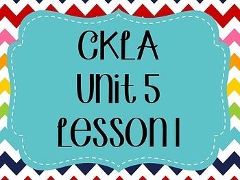 CKLA / EngageNY Unit 5 Lesson 1 Flipchart