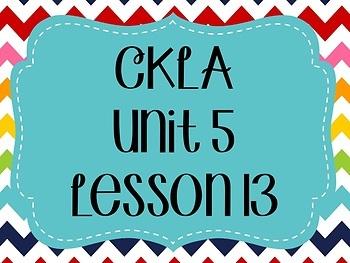 CKLA / EngageNY Unit 5 Lesson 13 Flipchart