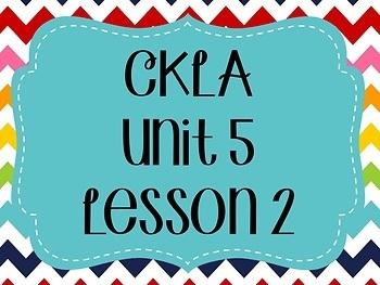 CKLA / EngageNY Unit 5 Lesson 2 Flipchart