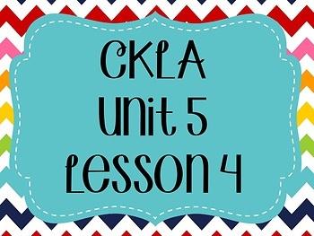 CKLA / EngageNY Unit 5 Lesson 4 Flipchart