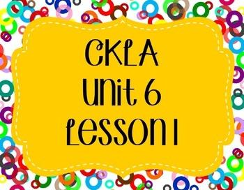 CKLA / EngageNY Unit 6 Lesson 1 Flipchart