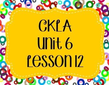 CKLA / EngageNY Unit 6 Lesson 12 Flipchart