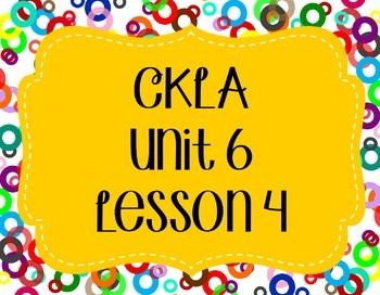 CKLA / EngageNY Unit 6 Lesson 4 Flipchart