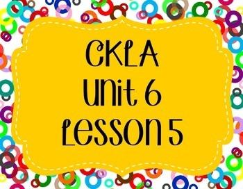 CKLA / EngageNY Unit 6 Lesson 5 Flipchart