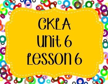 CKLA / EngageNY Unit 6 Lesson 6 Flipchart