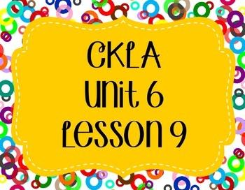 CKLA / EngageNY Unit 6 Lesson 9 Flipchart
