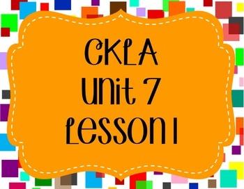 CKLA / EngageNY Unit 7 Lesson 1 Flipchart