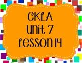 CKLA / EngageNY Unit 7 Lesson 14 Flipchart