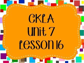 CKLA / EngageNY Unit 7 Lesson 16 PowerPoint