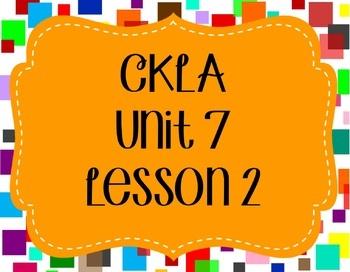 CKLA / EngageNY Unit 7 Lesson 2 Flipchart