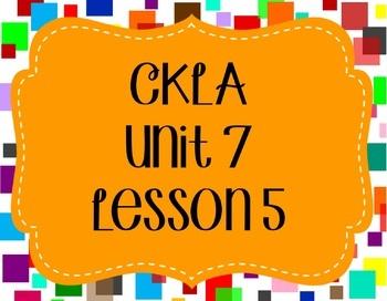 CKLA / EngageNY Unit 7 Lesson 5 Flipchart