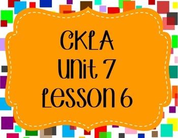 CKLA / EngageNY Unit 7 Lesson 6 Flipchart