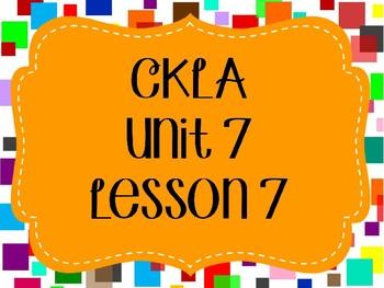 CKLA / EngageNY Unit 7 Lesson 7 PowerPoint