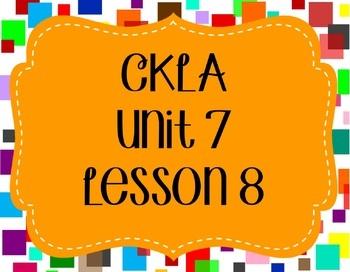 CKLA / EngageNY Unit 7 Lesson 8 Flipchart