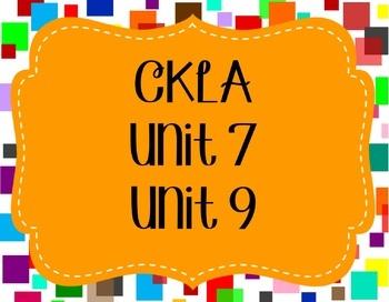 CKLA / EngageNY Unit 7 Lesson 9 Flipchart