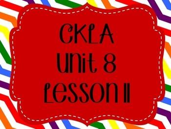 CKLA / EngageNY Unit 8 Lesson 11 Flipchart