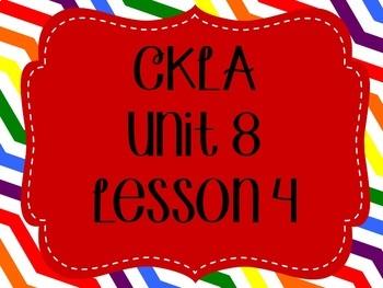 CKLA / EngageNY Unit 8 Lesson 4 Flipchart