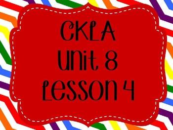 CKLA / EngageNY Unit 8 Lesson 4 PowerPoint
