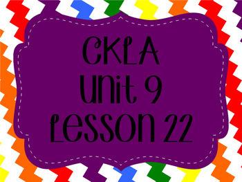 CKLA / EngageNY Unit 9 Lesson 22 Flipchart