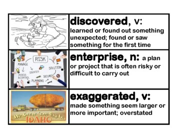 CKLA Grade 3 Domain 9 European Exploration of North America Vocabulary Cards