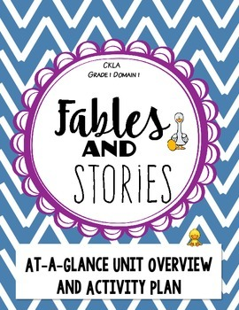 CKLA Fables and Stories, Domain 1 Overview and Activity Plan