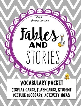 CKLA Fables and Stories, Domain 1 VOCABULARY Packet
