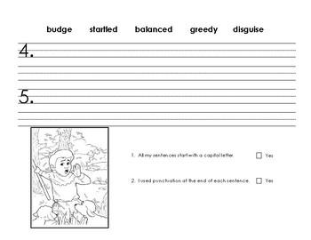 CKLA First Grade Domain 1 Vocabulary Homework