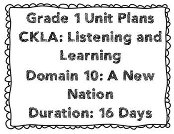 CKLA First Grade Domain 10 Unit Plans