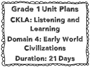CKLA First Grade Domain 4 Unit Plans